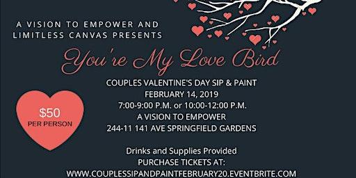 You're My Love Bird Couple's Sip & Paint 2020