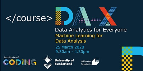 Data Analytics for Everyone: Machine Learning for Data Analysis  tickets