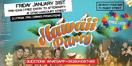 International Student Party - Hawaii Party - Free Shots & Lei's tickets