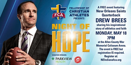 Fellowship of Christian Athletes Night of Hope 2020 with Drew Brees tickets