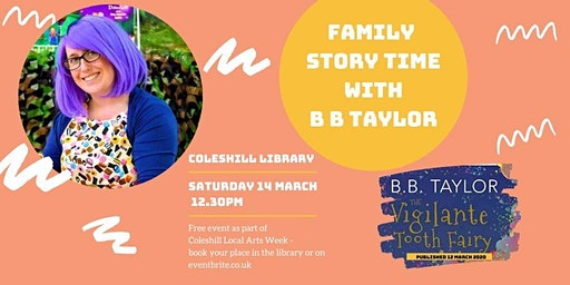 Family Story Time with B B Taylor at Coleshill Library