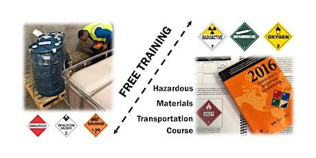 Hazardous Materials Transportation Training tickets