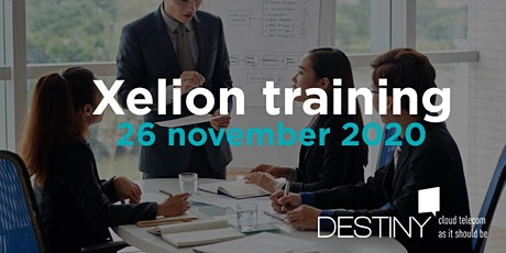 Xelion training 26 november 2020 tickets