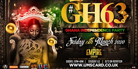 Ghanaian Independence Party (Coventry) #GH63 tickets