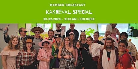 Member Breakfast Karneval Special CGN Tickets