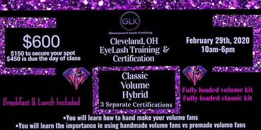 Cleveland, OH Classic Volume Hybrid Lash Training