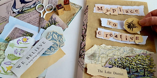 Create an Upcycled ART JOURNAL- a mixed media workshop