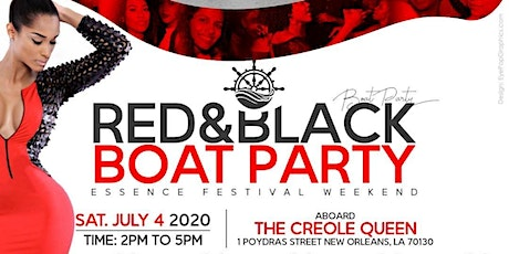 ESSENCE FESTIVAL RED & BLACK BOAT PARTY tickets