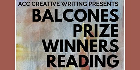 ACC Creative Writing Department's Balcones Prize Winners tickets