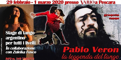 Stage di tango argentino con PABLO VERON a Pescara | 29 febbraio – 1 marzo