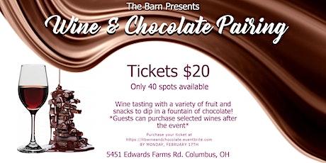 Wine & Chocolate Pairing tickets