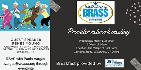 BRASS Provider Network Meeting tickets