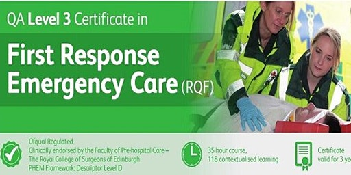 First Response Emergency Care (FREC) Level 3 Certificate