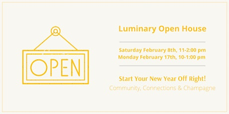 Luminary Open House tickets
