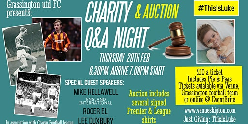 ThisIsLuke Charity Q&A and auction event