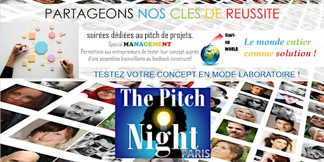 "Pitch Night Paris spécial ""Management"" billets"