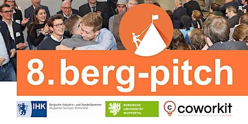 8. BERG-PITCH - Das Startup-Event im Bergischen Land - 03.03.2020