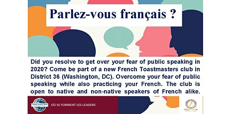 French Toastmasters--public speaking club tickets