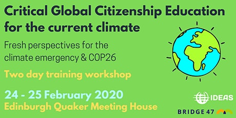 Critical Global Citizenship Education for the current climate tickets