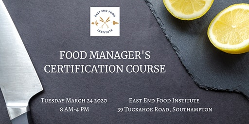Food Manager's Course in Southampton