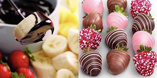 Couple fondue and chocolate dipped strawberries class