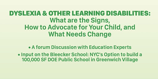 Dyslexia & Other Learning Disabilities: What are the Signs, How to Advocate for Your Child and What Needs to Change