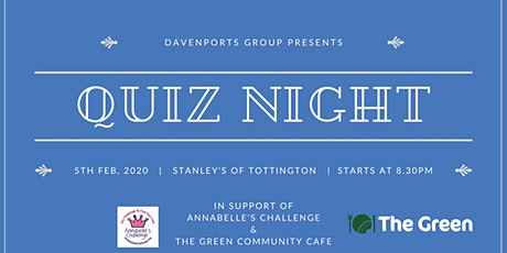 Davenports Charity Quiz Night tickets