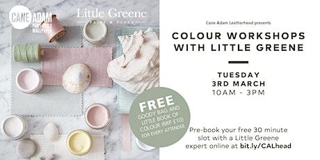 Little Greene Colour Workshops at Cane Adam Leatherhead tickets