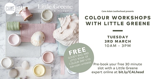 Little Greene Colour Workshops at Cane Adam Leatherhead