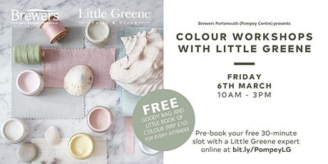 Little Greene Colour Workshops at Brewers Portsmouth (Pompey Centre) tickets