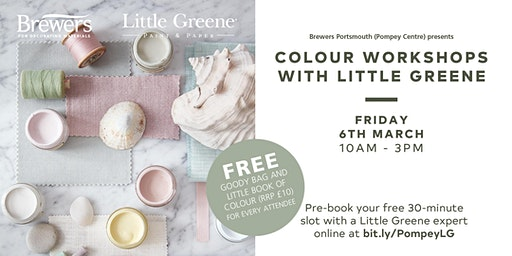 Little Greene Colour Workshops at Brewers Portsmouth (Pompey Centre)