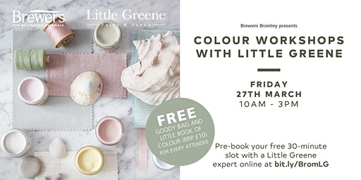 Little Greene Colour Workshops at Brewers Bromley