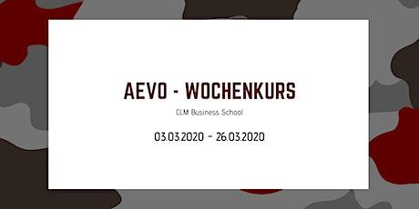 AEVO Wochenkurs - Prüfungsvorbereitung Tickets