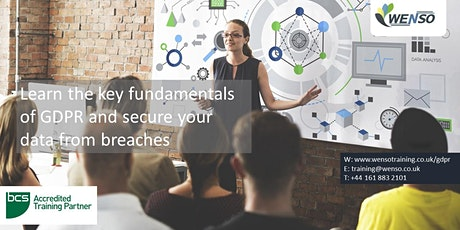 BCS CERTIFIED GDPR FOUNDATION COURSE tickets