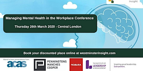 Managing Mental Health in the Workplace Conference tickets