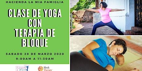 Clase de Yoga con Terapia de Bloque entradas