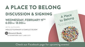 A Place to Belong Discussion, Q&A, and Signing