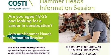 Hammer Heads Information Session tickets
