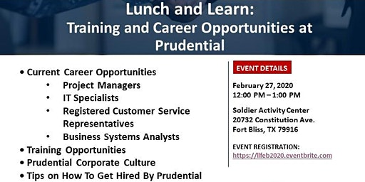 Lunch and Learn: Training and Career Opportunities at Prudential
