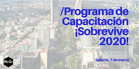 PROGRAMA DE CAPACITACIÓN ¡SOBREVIVE 2020! boletos