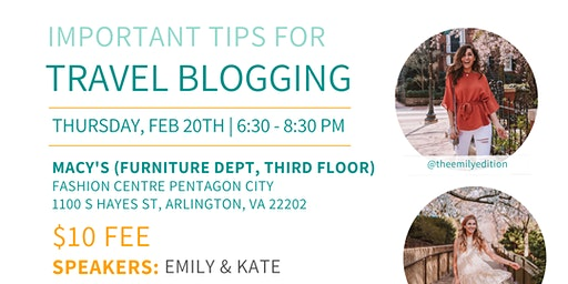 DC Bloggers February Meetup: Important Tips for Travel Blogging