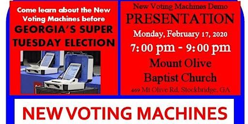 Georgia's New Voting Machine Training