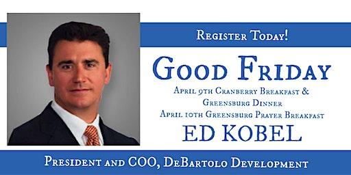 Greensburg Thursday Dinner with Ed Kobel