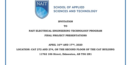 NAIT Electrical Engineering Technology Final Project Presentations