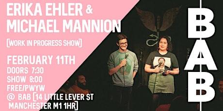 Erika Ehler & Michael Mannion tickets