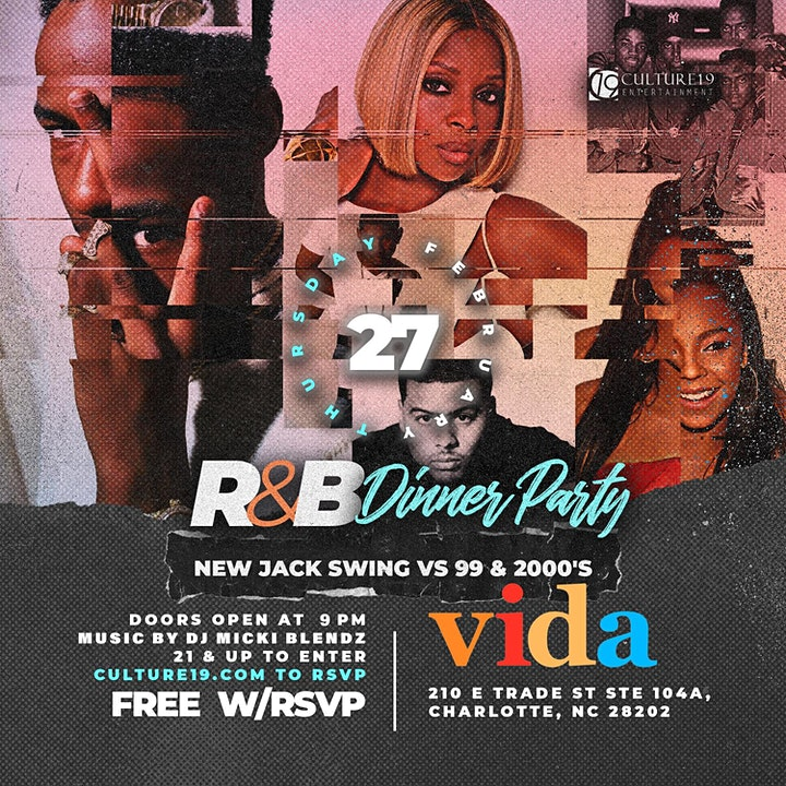R&B Dinner Party: New Jack Swing vs '99 & 2000's | CIAA Tournament Weekend image