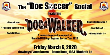 The Doc Soccer Social featuring Doc Walker tickets