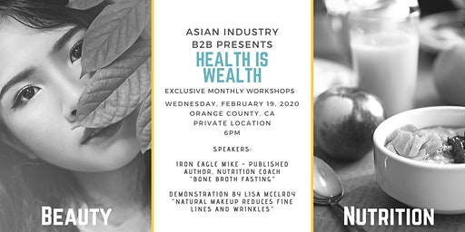 """AIB2B Presents """"Health Is Wealth"""" Monthly Workshop"""