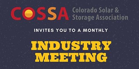 COSSA Industry Meeting tickets