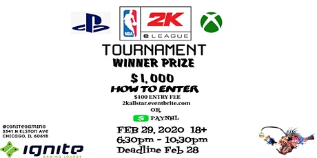 "NBA ""2K TOURNAMENT"" (CHICAGO EDITION) tickets"